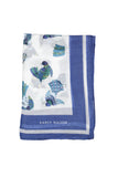Karen Walker Bird Scarf Off White Blue Viscose