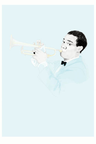 And Lizzy Louis Armstrong Satchmo Print