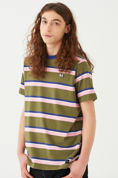 Lazy Oaf Khaki Striped T-Shirt Lazy Oaf is available in Brisbane Queensland Australia at Violent Green Albert Street store #lazyoaf #lazyoafdealer #lazyoafxdrmartens #lazyoafdocmartens #drmartensxlazyoaf #lazyoafstockist #lazyoafaustralia #lazyoafbrisbane #lazyoafqueensland #lazyoafclothing #lazyoafshoes #lazyoafstore #lazyoafbettyboop