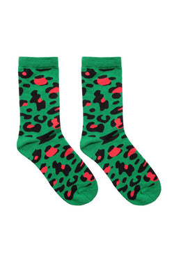 GEORGIA PERRY Green Leopard Socks