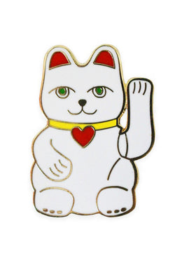 GEORGIA PERRY Lucky Cat Lapel Pin