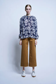 Karen Walker Magnolia Top Unicorn Muslin Navy Karen Walker is available in Brisbane Queensland Australia at Violent Green Albert Street store
