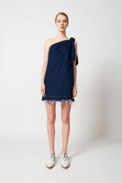 #karenwalker #karenwalkermizzenmastdress Karen Walker Mizzenmast Dress Raw Denim Indigo Karen Walker is available in Brisbane Queensland Australia at Violent Green Albert street store