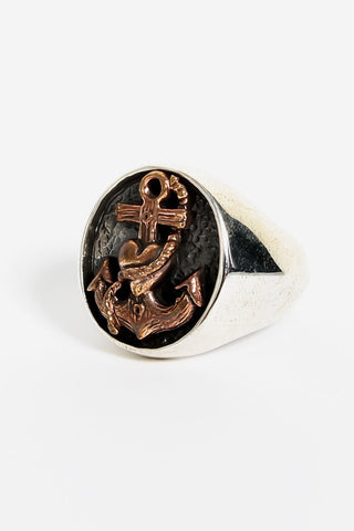SJ Dynasty My Love Is Anchored Ring Silver Brass