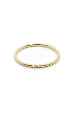 Natalie Marie Heavy Faceted Band Gold