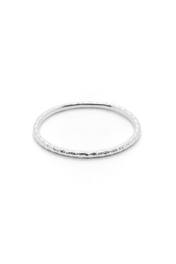 Natalie Marie Heavy Faceted Band Silver