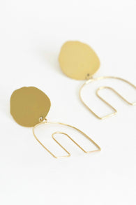 Two Hills Earring No.3 - Gold Plate