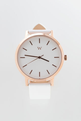 WANDERLUST WATCHES NOLITA WATCH available in WHITE/GOLD/WHITE