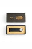 ORBITKEY BLACK WITH BLACK STITCHING LEATHER