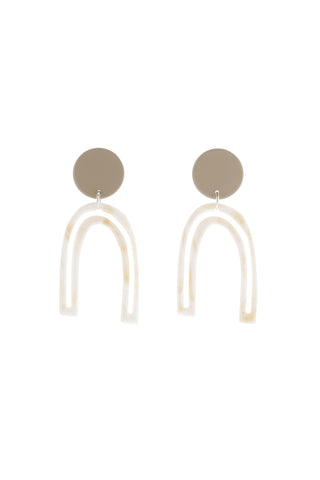 Bianca Mavrick Otis Outline Earrings - Tan