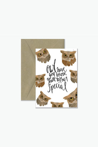 ROSIE LOU Owl Have You Know Pun Greeting Card