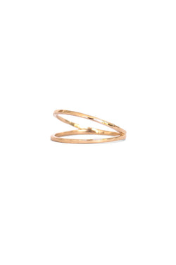 Natalie Marie Plane Ring Yellow Gold