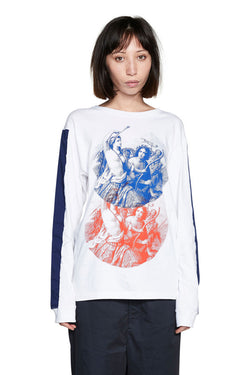 PERKS AND MINI (P.A.M.) Patch Sisters L/S T-shirt White