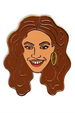 GEORGIA PERRY BEYONCE PIN available in ENAMEL/GOLD