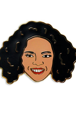 GEORGIA PERRY-OPRAH PIN-ENAMEL/GOLD