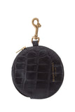 Deadly Ponies Pom Pom Purse Croc Black