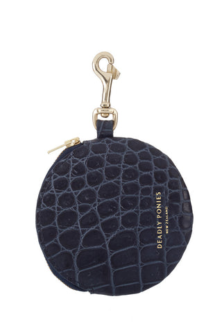 Deadly Ponies Pom Pom Purse Croc Nightshade