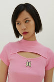 Lazy Oaf x Daria Quinn Fitted T-shirt - Pink
