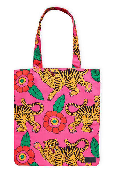Georgia Perry Dancing Tigers Tote Bag Georgia Perry is available in Brisbane Queensland Australia at Violent Green Albert Street store