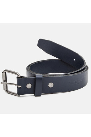 SATURDAYS SURF NYC-ROCKAWAY LEATHER BELT-NAVY