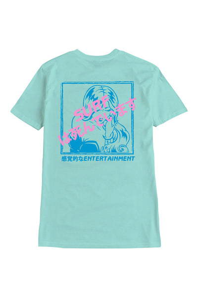 Surf Is Dead Room Service Tee Teal