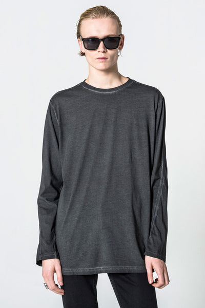 CHEAP MONDAY Shatter Long Sleeve Tee Moon Black