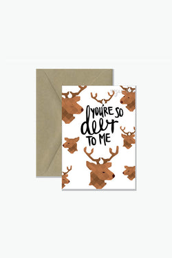 ROSIE LOU So Deer To Me Greeting Card