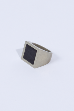ANNEX Square Ring White Brass