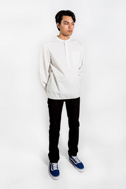 Saturday Surf Nyc Dimitri Popover Long Sleeve White