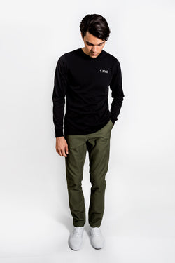 Saturday Surf Nyc Eastside Westside Long Sleeve Black