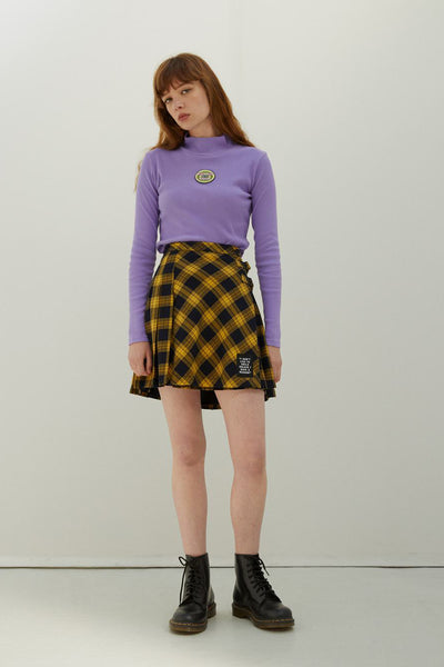 Lazy Oaf x Daria I Don't Like To Smile Skirt - Yellow