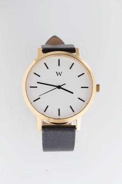 WANDERLUST WATCHES SOHO WATCH available in BLACK/GOLD/WHITE