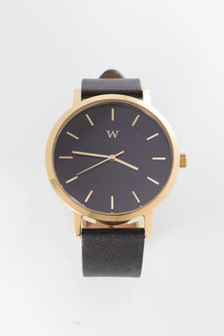 WANDERLUST WATCHES TRIBECA WATCH available in BLACK/GOLD/BLACK