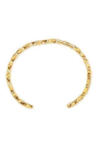 Petite Grand Textured Cuff - Gold