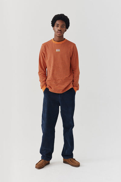 Lazy Oaf Tiny Stripe Long Sleeve T-shirt - Orange