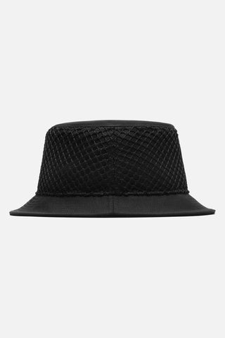 STAMPD MESH OVERLAY BUCKET HAT available in BLACK