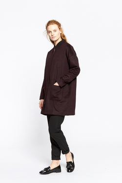 VANISHING ELEPHANT Utility Coat Wine