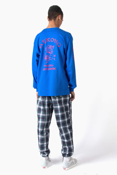 Black Weirdos Mekong Long Sleeve Tee - Royal Blue