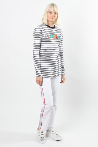 Etre Cecile Lumiere Long Sleeve T-shirt Etre Cecile is available in Brisbane Queensland Australia at Violent Green Albert Street store #etrececile #etrececilestockist #etrececiledealer #etrececileclothing #etrececiletee #etreccecilepant #etrececileskirt #etrececiledenim #etrececileshirt #womenswear #parisienne #parisiennechic