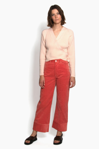 Kowtow Stage Pant - Peach Cord