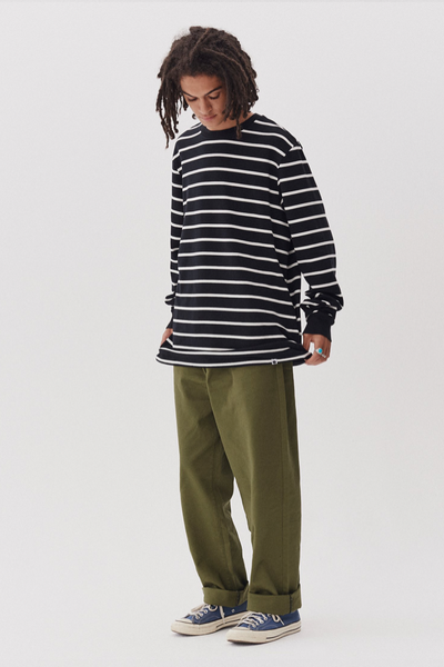 Lazy Oaf LO Contrast Stitch Khaki Trousers