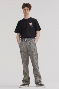 Lazy Oaf Grey Leopard Trousers