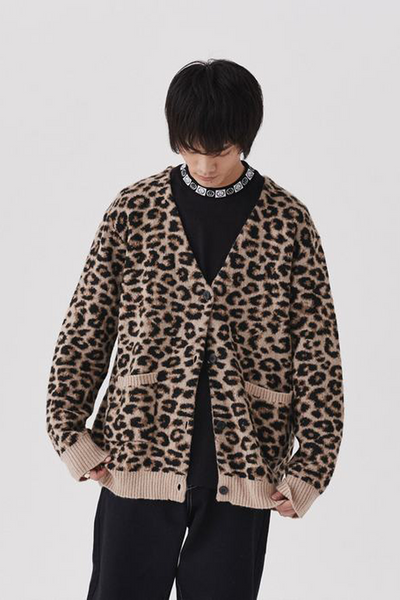 Lazy Oaf Hairy Leopard Cardigan