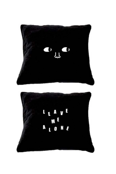 Lazy Oaf Leave Me Alone Pillow - Black
