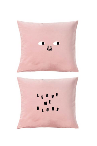 Lazy Oaf Leave Me Alone Pillow - Pink