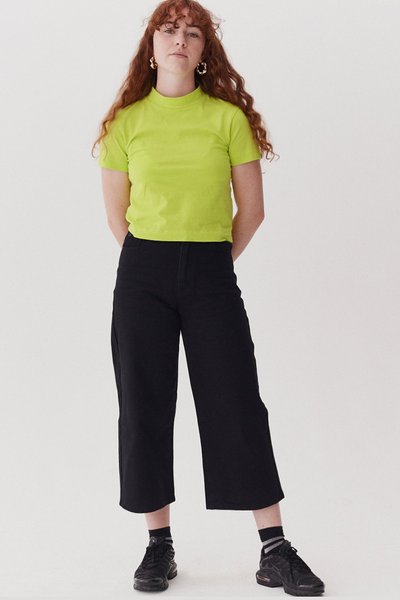 Lazy Oaf LO Black Wide Leg Jeans - Black