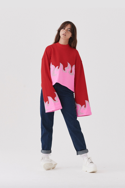 Lazy Oaf On Fire Sweatshirt