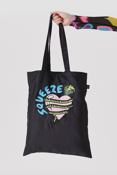Lazy Oaf Squeeze Satin Tote Bag