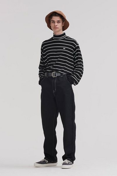 Lazy Oaf Stripey Long Sleeve T-shirt - Black