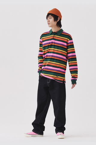 Lazy Oaf Stripey Polo Shirt